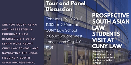 Prospective South Asian Law Students Visit at CUNY Law tickets
