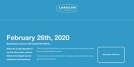 Laracon viewing party Marrakech Tickets
