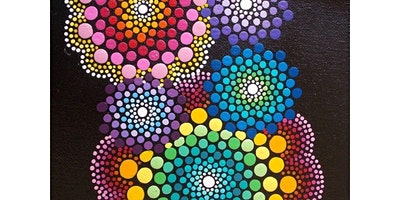 """Kids """"Dot"""" Canvas Painting class (02-29-2020 starts at 11:30 AM)"""