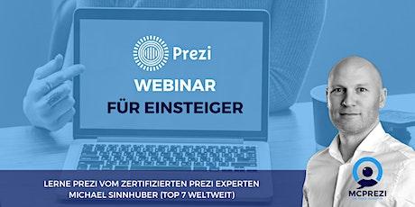 PREZI WEBINAR für Einsteiger - Top 7 Prezi Experte Michael Sinnhuber Tickets