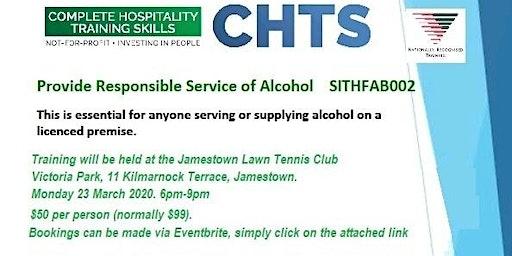 Responsible Service of Alcohol Training (RSA) - Jamestown