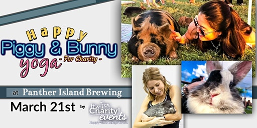 Happy Piggy & Bunny Yoga-For Charity at Panther Island Brewing