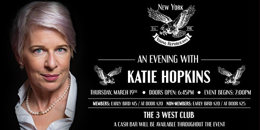 Katie Hopkins March Speaker Series