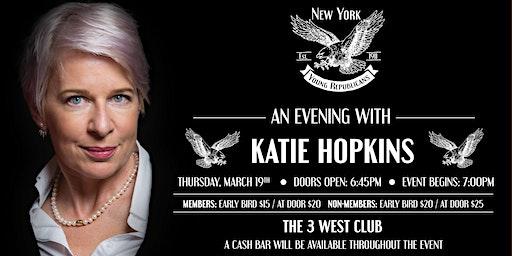 Katie Hopkins March Speaker Series