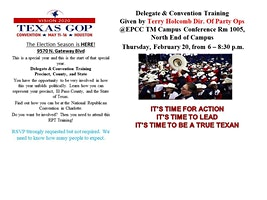 El Paso Delegate and Convention Training: County, State, and National