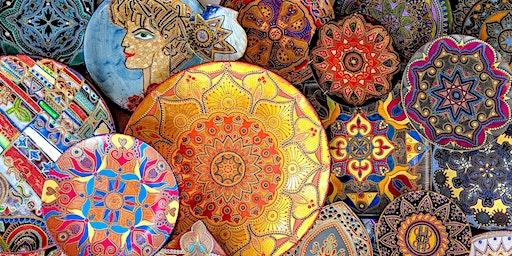 """Slavic style decor on ceramic"" Art Class  on Slavic Mardi Gras Maslenitsa"