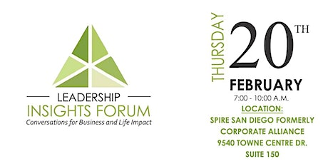 Leadership Insight Forum ( 1/2 off  for attendees!) tickets