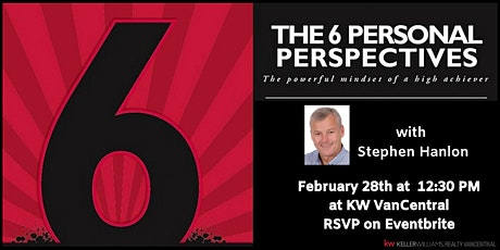 The 6 Personal Perspectives: The Powerful Mindset of a High Achiever tickets