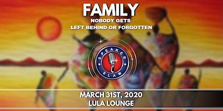 Speaker Slam: Family tickets