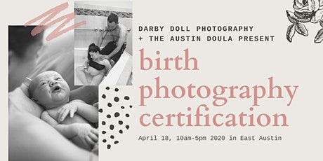 Birth Photography Certification tickets