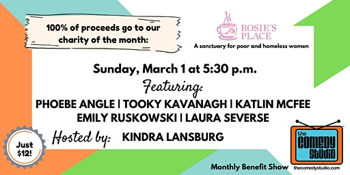 Rosie's Place Benefit show!