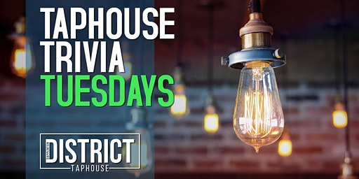 Taphouse Trivia Tuesdays at Sapperton District Taphouse