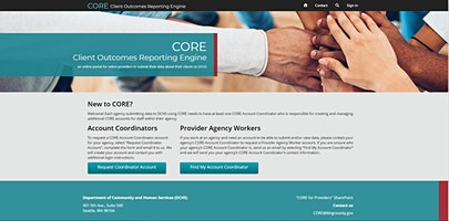 CORE Basic Training for Providers Reporting Quarterly (Southside, afternoon)