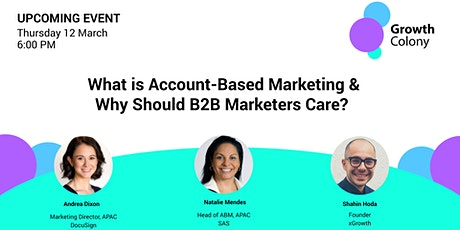 What is Account-Based Marketing & Why Should B2B Marketers Care? tickets
