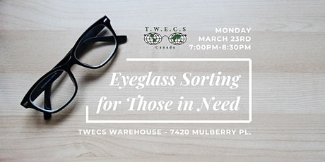 Eyeglass Sorting for Those in Need tickets