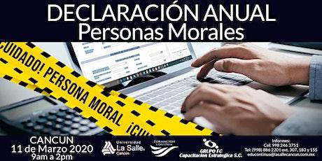 Declaración Anual Personas Morales boletos