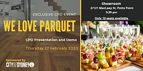 'We Love Parquet' - Artistic Expression in Timber Flooring tickets
