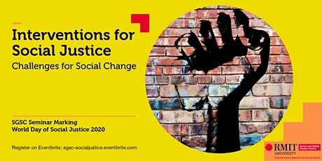Interventions for Social Justice: Challenges for Social Change tickets