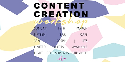 Content Creation Workshop with Ellie The Stylist