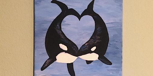 Orca Love Paint & Sip @ G Street Bar & Grill