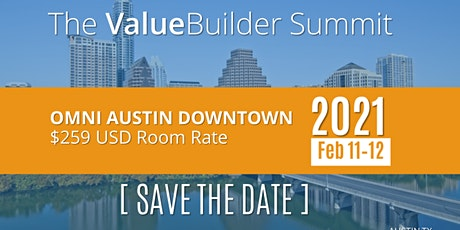 The 2021 Value Builder Summit tickets