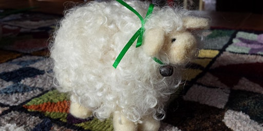 Learn to needle felt a curly locks sheep ages 16+