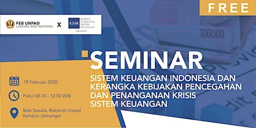 [FREE] Seminar Sistem Keuangan Indonesia (SKSSK-BI - LPS - OJK - FEB Unpad)