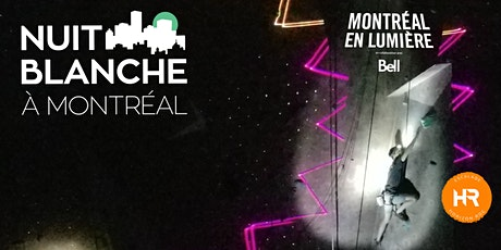 Horizon Roc en Lumière: Escalade - Acro-Parc - Black light - Performances et PLUS| Nuit Blanche Montréal en lumière tickets