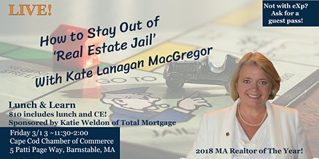 Friday the 13th Lunch & Learn~ How to Avoid 'Real Estate Jail' tickets