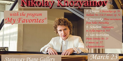 "Nikolay Khozyainov with the program ""My Favorites"" in Ottawa"