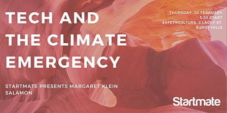 Startmate: the climate emergency and the role of the tech industry tickets
