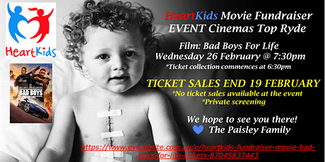 HeartKids Fundraiser - Movie: Bad Boys For Life tickets