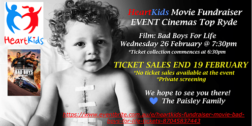 HeartKids Fundraiser - Movie: Bad Boys For Life