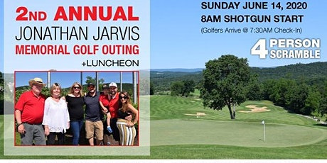 2nd Annual Jonathan Jarvis Memorial Golf Outing & Luncheon tickets