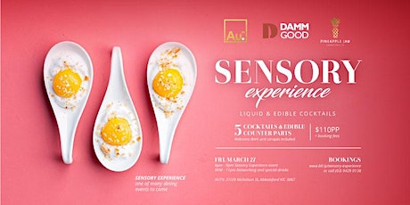 Sensory Experience - Liquid & Edible Cocktails tickets