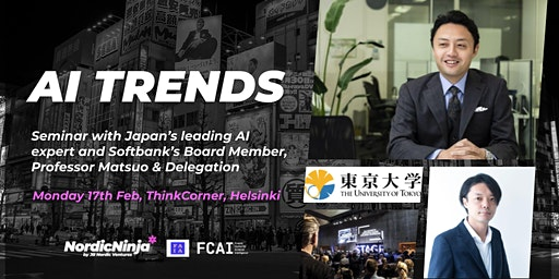 Global AI trends and opportunities – with Prof. Matsuo, University of Tokyo