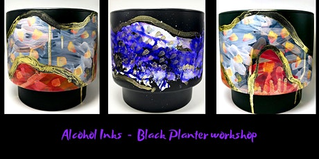 Alcohol Inks - Black Planter workshop tickets