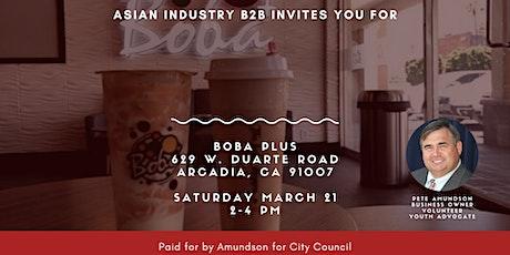 AIB2B *Free Boba* Come Meet Councilman Peter Amundson tickets