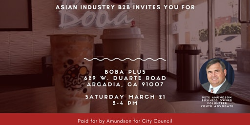 AIB2B *Free Boba* Come Meet Councilman Peter Amundson