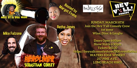 Hey Y'all Comedy Show at The Waters Edge Winery tickets