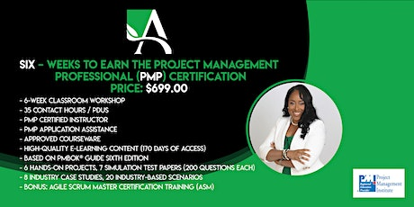 Six Weeks to Earn the Project Management Professional (PMP) Training tickets