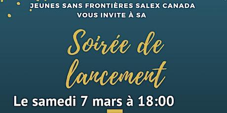 Jeunes Sans Frontières SalEx Canada - Soirée de lancement  billets