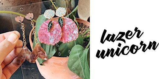 #imadeitmyself  -  Flora & Fauna Earrings -  Lazer Unicorn