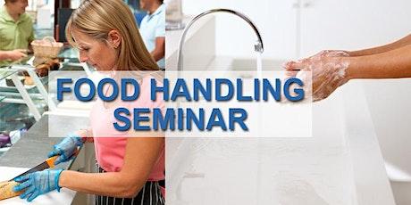 Food Handling Classroom Learning tickets