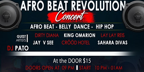 Afro Beat Revolution Concert by Kusher snazzy tickets
