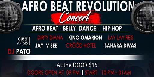 Afro Beat Revolution Concert by Kusher snazzy