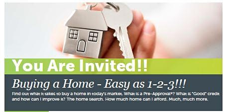 Buying a Home.. Easy as 1-2-3!! Free Home Buyer Education!!