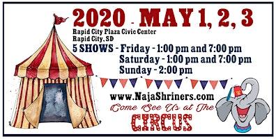 Naja Shrine Circus, May 1-3, 2020 – Rapid City, SD