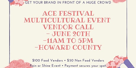 Ace  Festival Non-Food Vendor Registration tickets