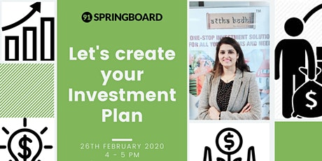 Let's create your Investment Plan! tickets